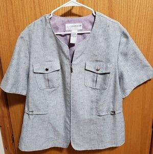 Sag Harbor Grey Linen Suit Jacket